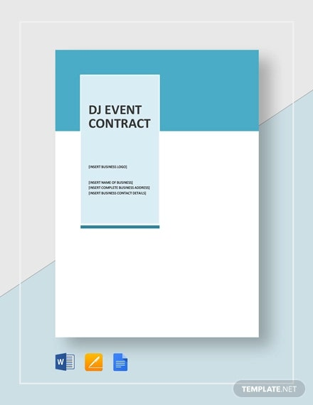 Simple DJ Event Contract Template