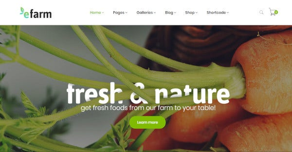 efarm – retina ready wordpress theme
