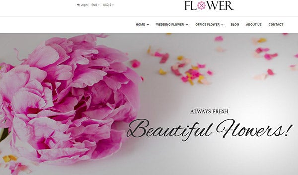 Flower: Easy to customize WordPress Theme