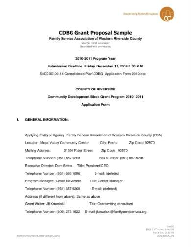 grant proposal sample 01