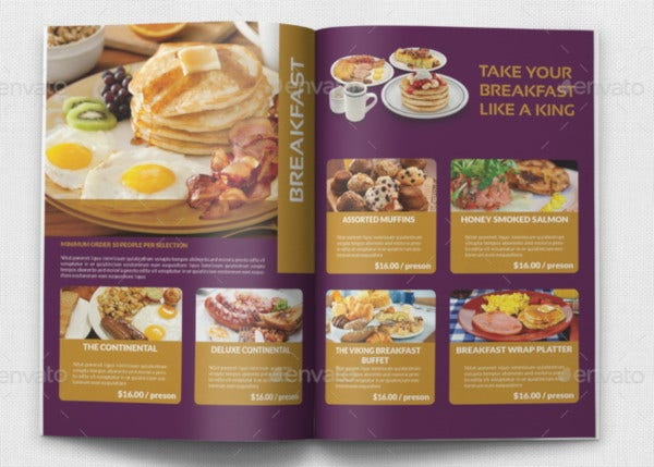 imple catering brochure template