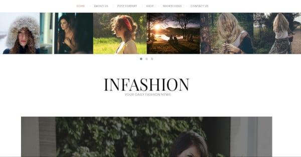 inFashion – User Friendly WordPress Theme