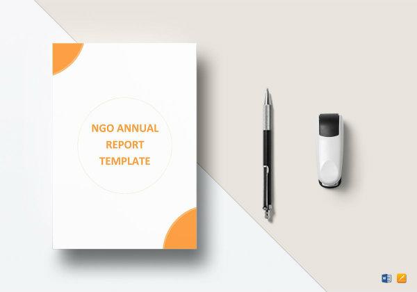 ngo annual report templatemockup