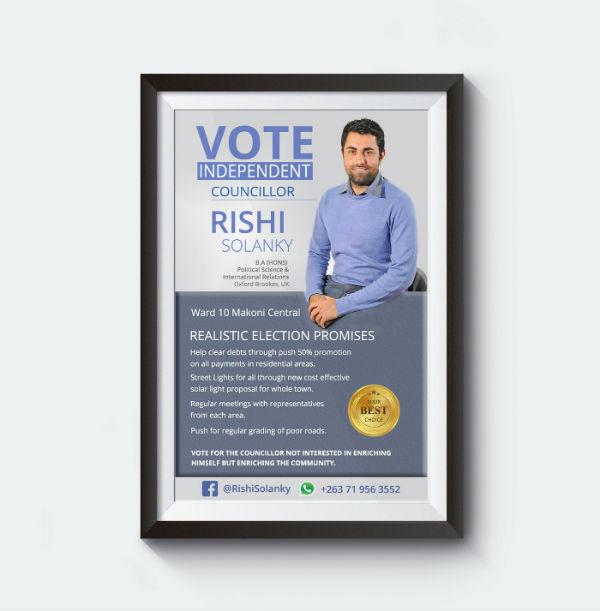 political flyer design