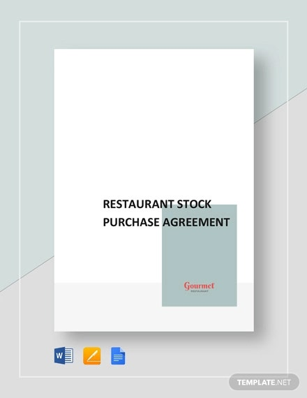 restaurant stock purchase