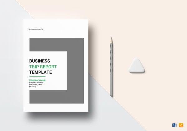 sample business trip report template mockup