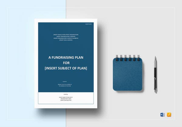 sample fundraising plan mockup