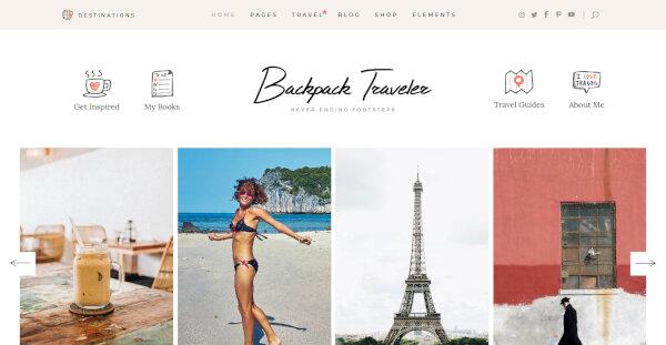 Backpack Traveler – Destination Posts WordPress Theme