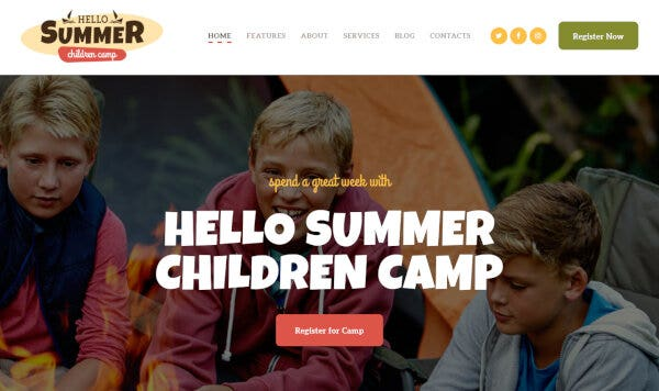Hello Summer – Booking Management WordPress Theme