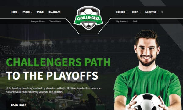 Challengers - User-Friendly WordPress Theme