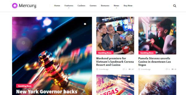 1 mercury gambling news casino affiliate wordpress theme