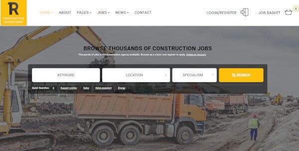 1 recruitment construction – multi industry recruitment theme