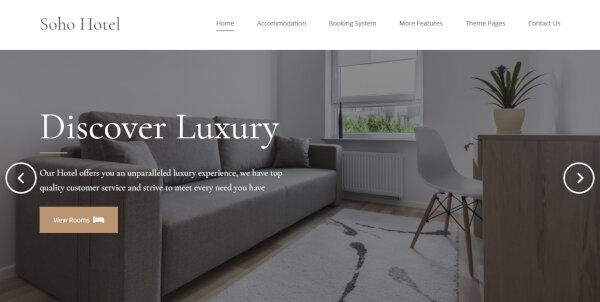 Soho Hotel – Online Booking WordPress Theme