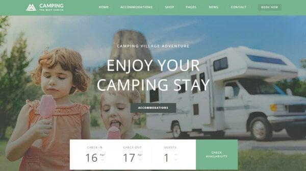 Camping Village – Payment Gateways WordPress Theme