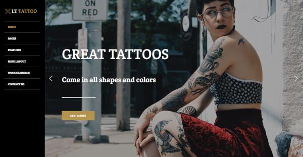 10 lt tattoo – genesis framework wordpress theme