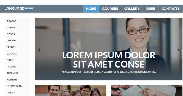 Language Courses – HTML WordPress Theme