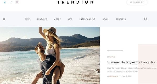 Trendion – Self-hosted WordPress Theme