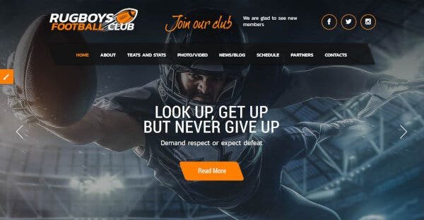American Football -Fully Responsive WordPress Theme
