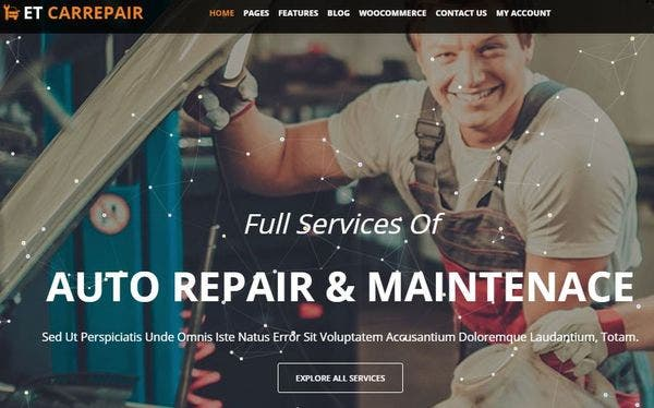 ET CarRepair - Genesis Framework Powered WordPress Theme