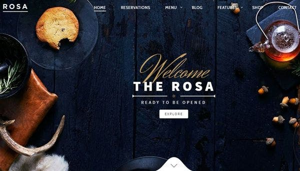 Rosa – Parallel Scrolling Effect WordPress Theme