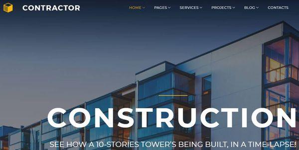 Contractor – Cherry Plugins Optimized WordPress Theme