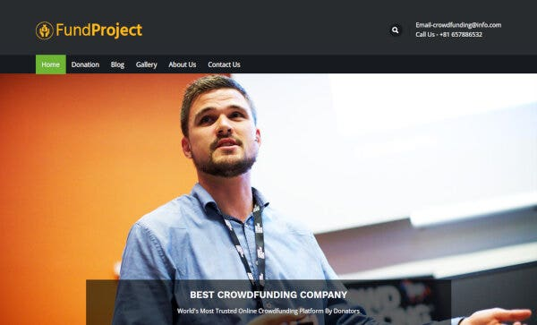 11 crowdfunding company wordpress theme just another inkthemes network demo sites site
