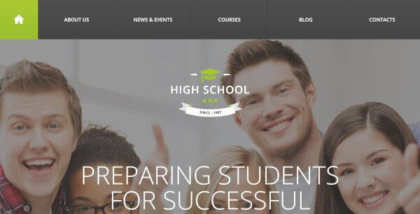 High School – Auto Updated WordPress Theme