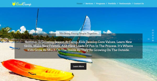 11 summer camp wordpress theme