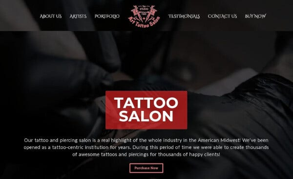 11 tattoo salon – shortcode wordpress theme