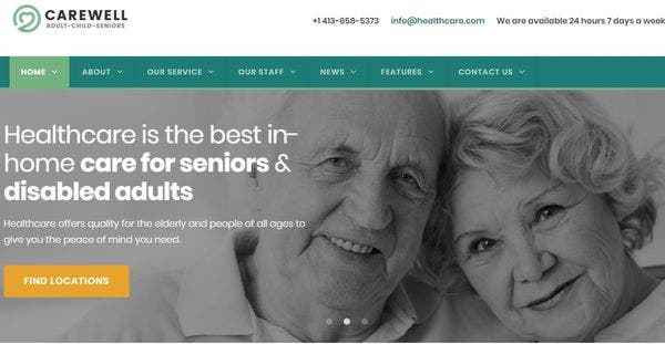 Physiotherapy & Elder Care – Pop-up Gallery WordPress Theme