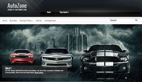 Autozone – Google Map Integrated WordPress Theme