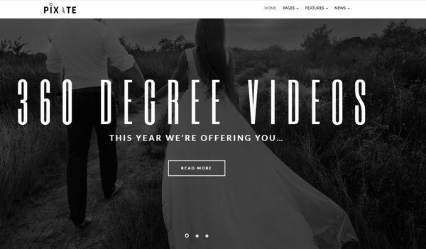 Pixate – Video Gallery WordPress Theme