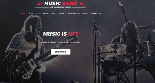 Music Producer – Events Plugin WordPress Theme