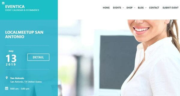 Eventica – Child Theme Ready WordPress Theme