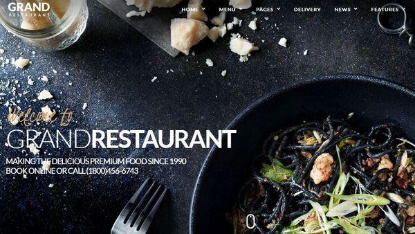 Grand Restaurant – Online Reservation Optimized WordPress Theme