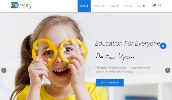 12 primary – best wordpress education theme – material design education learning center theme