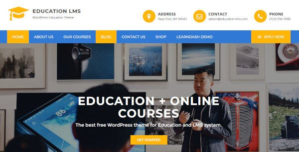 Education LMS – Media WordPress Theme