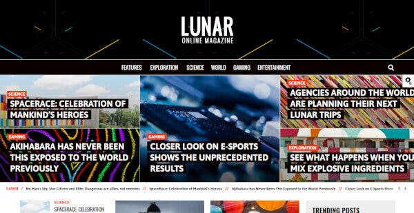 Lunar – Ratings System WordPress Theme