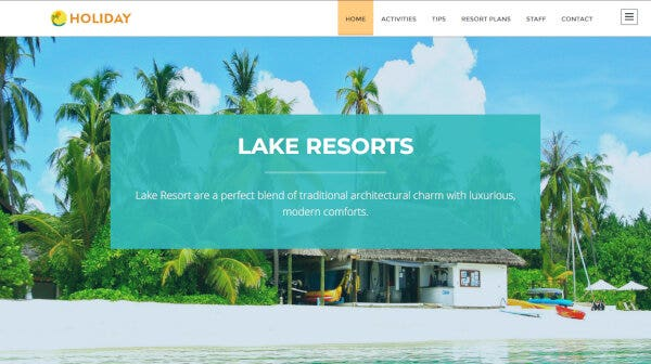 Holiday – One minute Booking System WordPress Theme