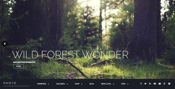 Photographer – HTML5 & CSS3 Validated WordPress Theme