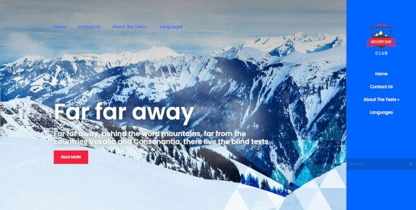 MountainClub - ShortCodes Ready WordPress Theme