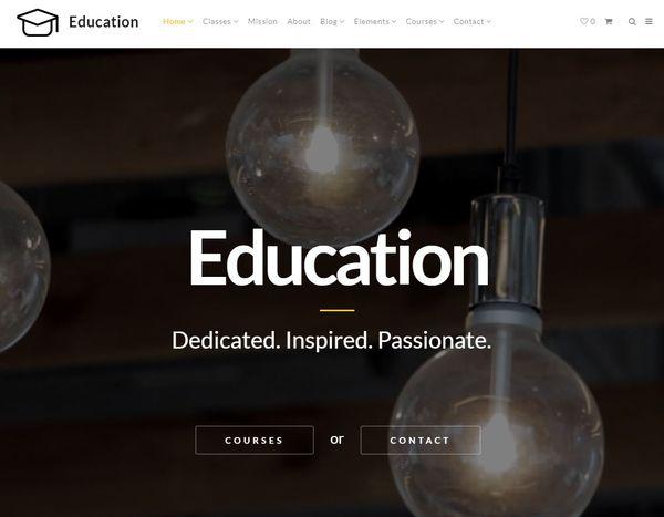 Education – Easy to Use WordPress Theme
