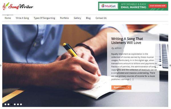 SongWriter – Header Banner WordPress Theme