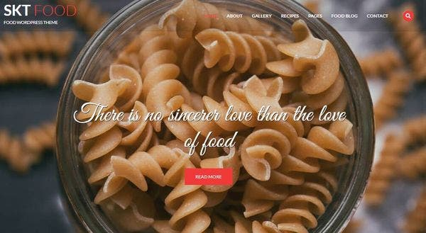 SKT Food – Sidebar Compatible WordPress Theme