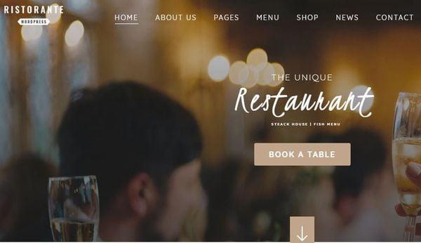 Ristorante – Payment Methods Optimized WordPress Theme