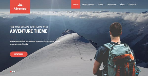 Adventure – Social Icon Ready WordPress Theme