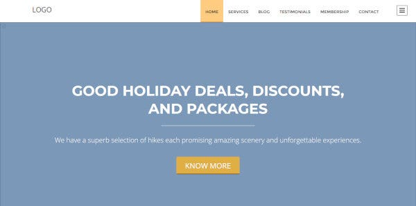 13 hiking tent wordpress theme – just another demo theme sites site