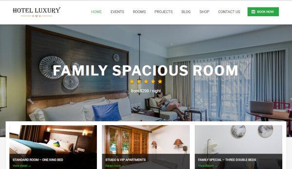 Luxury – Online Booking WordPress Theme