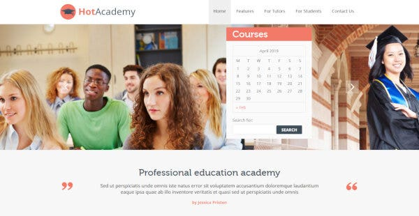 Hot Academy – Calendar WordPress Theme
