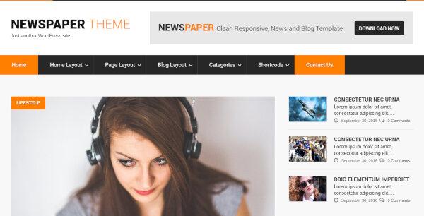 SKT Newspaper Pro – Color Changing WordPress Theme